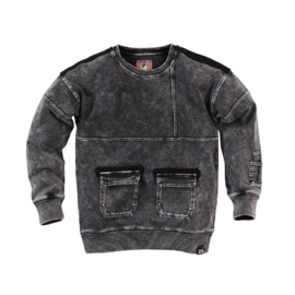 Sweater Chiel Stonewash black - Z8