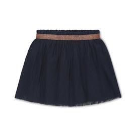 Meisjes plissérok Nika donkerblauw - Koko Noko