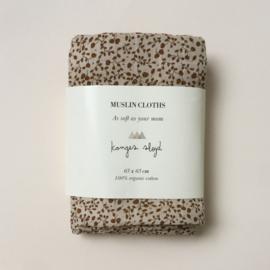3-pack hydrofiele doeken blossom mist birk - Konges Sløjd