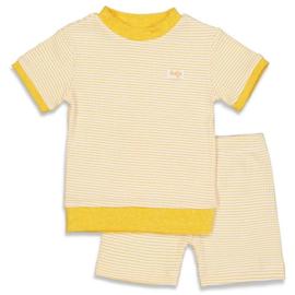 Pyjama kort wafel Okergeel - Feetje