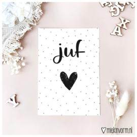 Ansichtkaart Juf