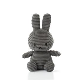 Nijntje corduroy grijs - 23 cm