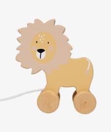 Houten leeuw trekdier - Tryco