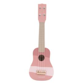 Gitaar roze met of zonder naam - Little dutch
