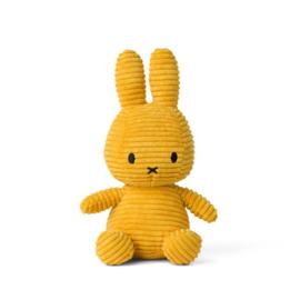 Nijntje corduroy geel - 23 cm