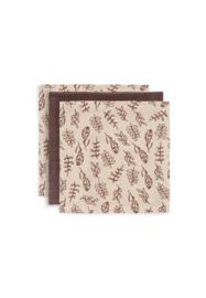 Monddoekjes Hydrofiel Meadow chestnut 3-pack - Jollein