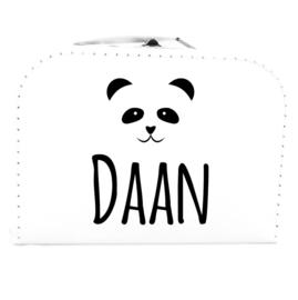 Naamkoffertje panda