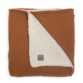 Deken teddy 100x150cm Bliss knit Caramel - Jollein