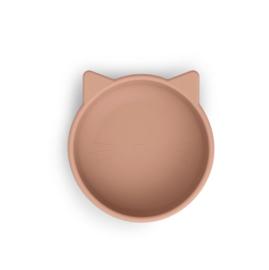 Siliconen kom Cat dark rose - Liewood