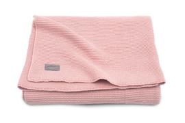 Deken 100x150cm basic knit Blush pink - Jollein