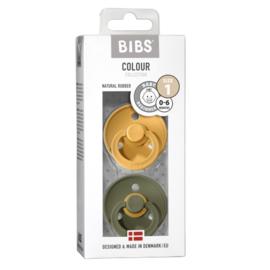 Bibs fopspeen natuurrubber Blister Honey bee/ olive - Maat 3