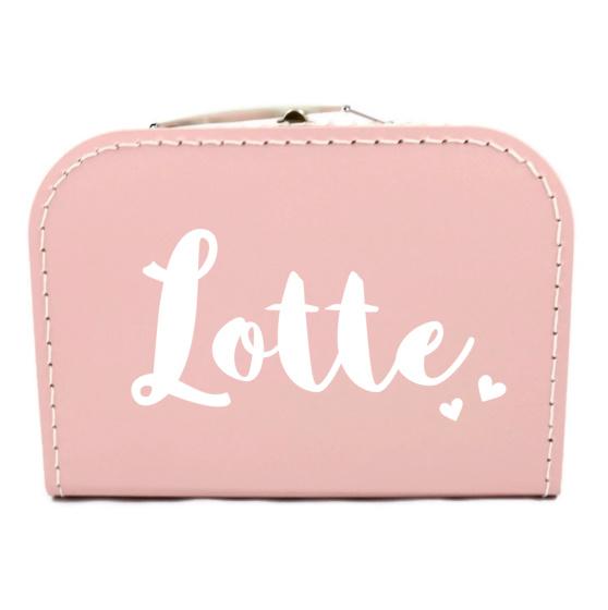 Koffertje met naam - hartjes