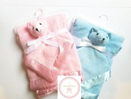 Set zachte babydeken en knuffeldoekje