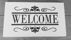 """Houten tekstbord """"Welcome"""""""