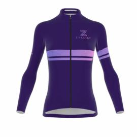 .Zyclist Strade Light Jacket Purple Streep - Maat XS