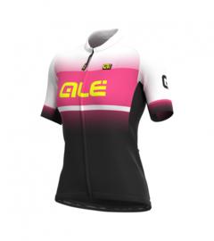 Alé Solid Blend Lady Jersey Black/Fluo Pink - Maat L