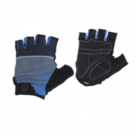 Rogelli Zomerhandschoenen Hero Zwart/Blauw - Maat L
