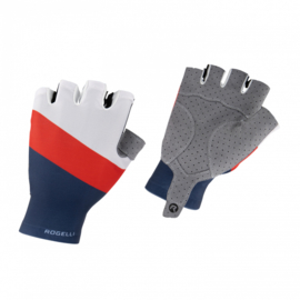 Rogelli Gloves Kai Blauw/Rood/Wit - Maat M