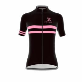 .Zyclist Strade Jersey Black/Pink - Maat L