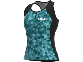 Alé Solid Tank Top Triangles Turquoise - Maat S
