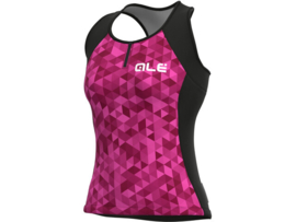 Alé Solid Tank Top Triangles Violet - Maat M
