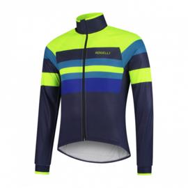 Rogelli Peak Winterjacket Blauw/Fluor/Geel - Maat S