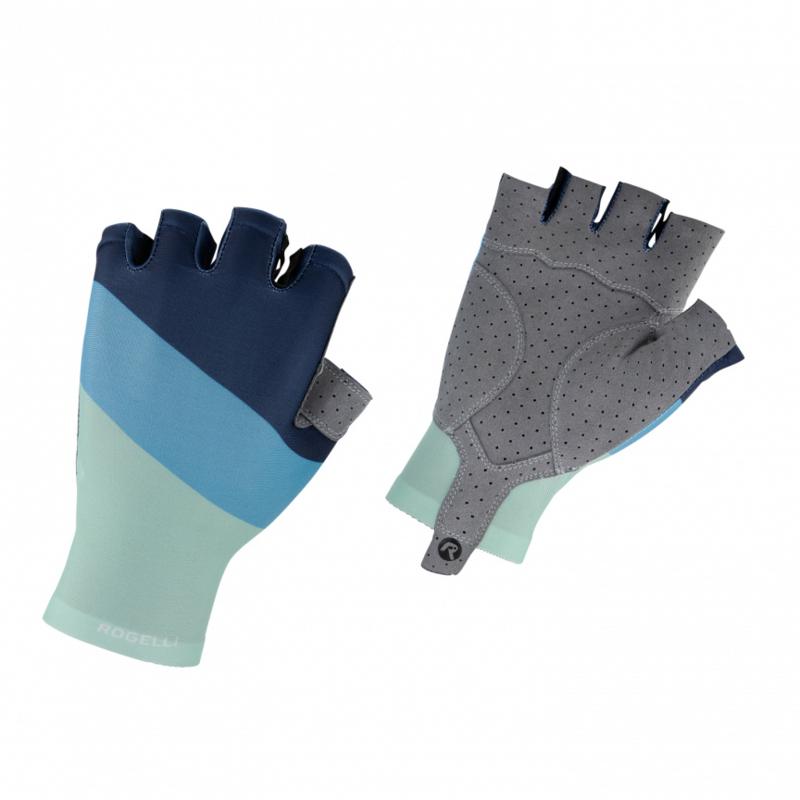 Rogelli Gloves Kai Turquoise/Blauw - Maat M