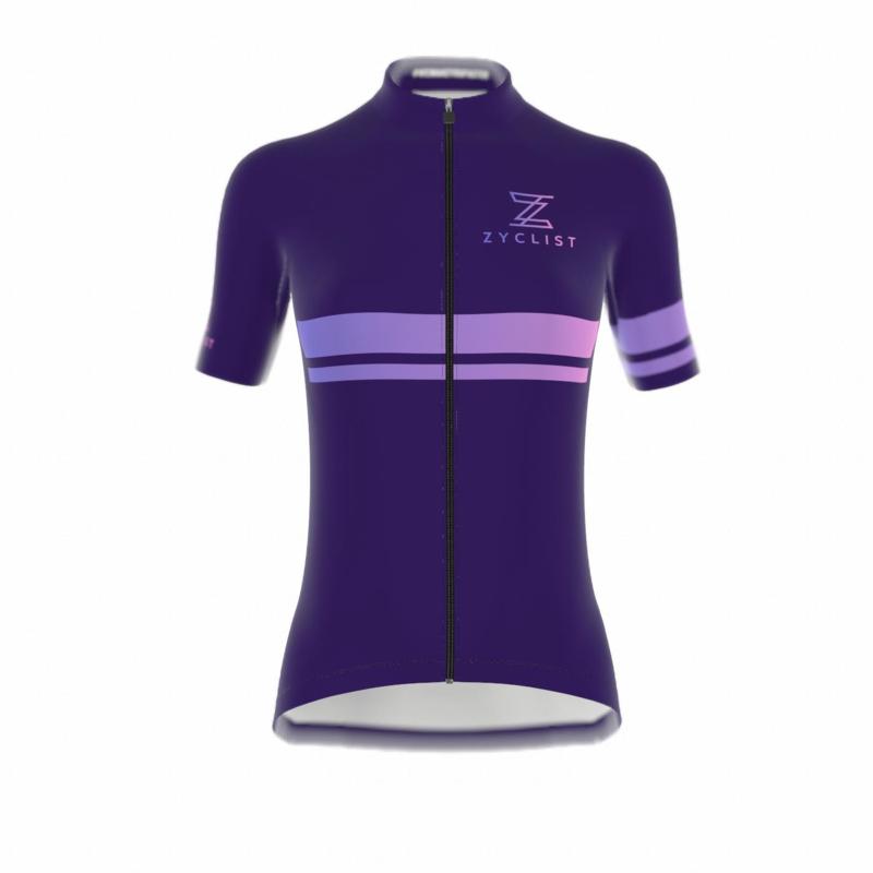.Zyclist Strade Jersey Streep Purple - Maat M