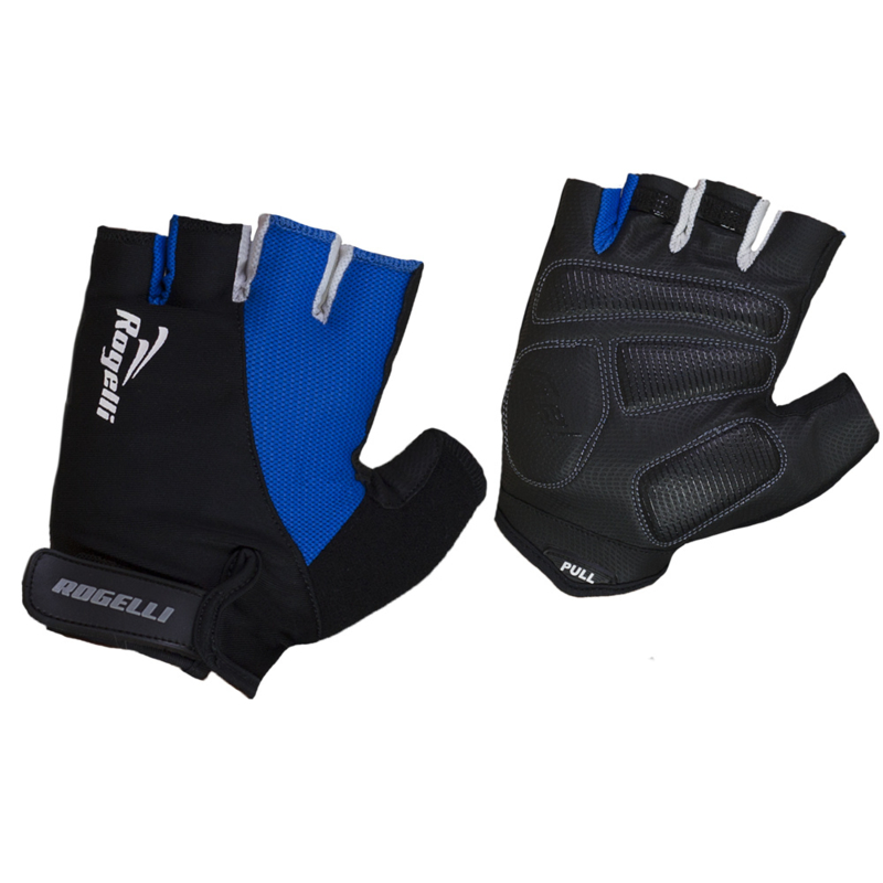 Rogelli Agio Fietshandschoenen Zwart/Blauw - Maat S