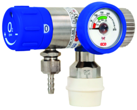 Regulator  with flowmeter 0-25 L/m + din GCE MEDISELECT II