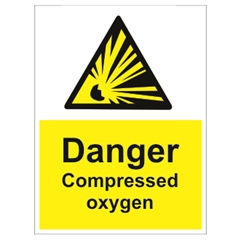 Imo sign caution compressed oxygen