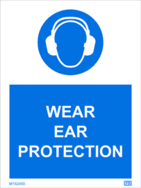 Imo sign ear  protection must be worn