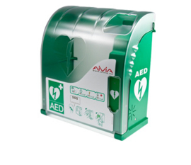 cabinet for defibrillator AIVIA 200 with  siren and heating