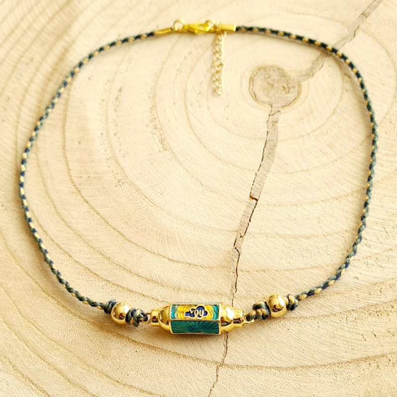 """Message Bead  Ketting """"You and me"""""""