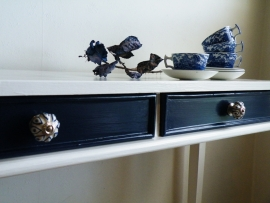 Sidetable blauw wit