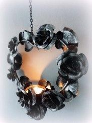 Hartje met rozen waxine
