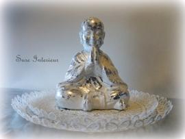 Boeddha wit zilver