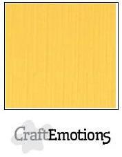 CraftEmotions linnenkarton 10 vel goudgeel 30 x 30 cm / LC-22