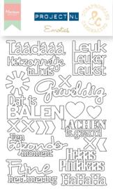"""Marianne Design Chip board Project Nederlands """"Emoties"""