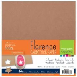 Florence cardstock Kraft 30,5 x 30,5 cm.