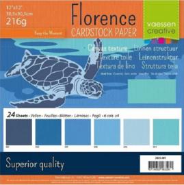 Florence Blauw 30,5 x 30,5cm. Blauw