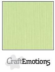 CraftEmotions linnenkarton 10 vel kiwi 30 x 30 cm / LC-21