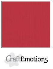 CraftEmotions linnenkarton 10 vel kersen rood 30 x 30 cm / LC-30