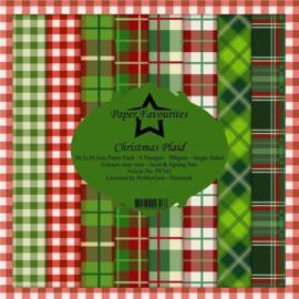 Papieren favorieten Christmas Plaid 12x12 Inch papierpakket