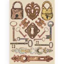Stamperia Houten Figuren A5 formaat