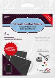 3D creative sheets in zwart