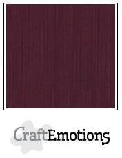 CraftEmotions linnenkarton 10 vel burgundy 30 x30 cm / LC-67