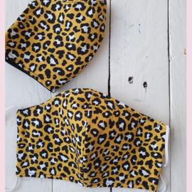 Mondkapje Animal Print Oker Tiener/Dames