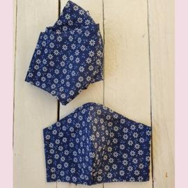 Mondkapje Blue Flowers Tiener/Dames