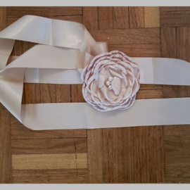 Bloemen Ceintuur 6  Beige